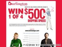 bcfsweeps.com - Burlington Coat Factory - $500 Shopping Spree
