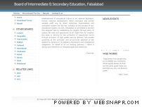 bisefsd.edu.pk - Board of Intermediate & Secondary Education