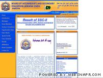 biselrk.edu.pk - Welcome to Official Website of Board of Intermediate and Secondary Education Larkana