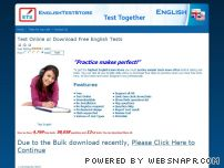 englishteststore.com - Download free english tests, Free TOEFL Tests, Grammar test, Structure test, Vocabulary test, Reading test, Toefl, IELTS, GRE, GMAT
