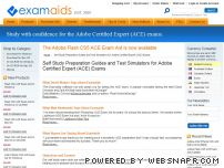 examaids.com - Self Study Preparation Guides and Test Simulators for Adobe Certified Expert (ACE) Exams