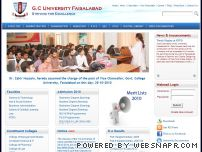 gcuf.edu.pk - .::: Welcome to GC University Faisalabad, Pakistan :::.