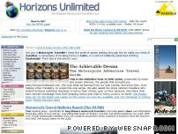 horizonsunlimited.com - Horizons Unlimited - THE Motorcycle Travel site