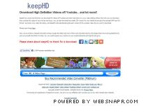 keephd.com - Download and Save HD Videos off Youtube | KeepHD.com Video Downloader