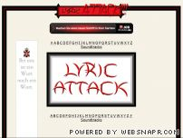 lyricattack.com - Lyric Attack!!! -  Song Lyrics, Lyrics of Songs, Free Lyrics, Free Song Lyrics, Rap Lyrics, Country Lyrics, Hip Hop Lyrics, Rock Lyrics, Country Music Lyrics, Music Lyrics