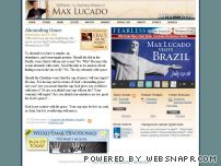 maxlucado.com - The Official Site · Max Lucado