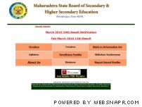 mh-hsc.ac.in - Maharashtra State Board of Secondary & Higher Secondary Education,    Shivajinagar, Pune 411 004.