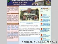 moe.go.tz - WELCOME TO MINISTRY OF EDUCATION AND VOCATIONAL TRAINING OFFICIAL WEBSITE:::::::::