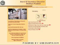 mpbse.nic.in - Madhya Pradesh Board of Secondary Education