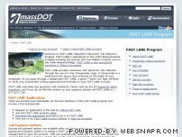 mtafastlane.com - MassDOT Highway Division: FAST LANE Program