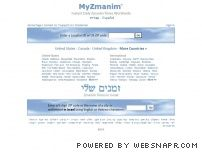 myzmanim.com - MyZmanim.com - Instant Zmanim for Anywhere in the World