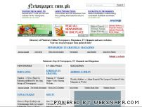 newspaper.com.pk - Pakistan Newspapers Online - Jang, The News, Dawn, Business Recorder, Akhbar e Jahan,  Express News, BBC Urdu, CNBC
