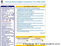 nhrc.nic.in - National Human Rights Commission, New Delhi, India.