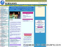 nimhans.kar.nic.in - Welcome to NIMHANS Home Page