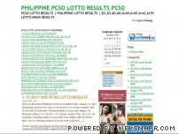pwedeh.com - PHILIPPINE PCSO LOTTO RESULTS PCSO