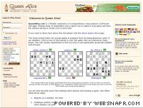 queenalice.com - Queen Alice Internet Chess Club - Play free turn based Correspondence Chess in your web browser!