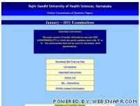 rguhsonlineqp.com - Rajiv Gandhi University of Health Sciences
