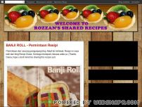 rozzan.blogspot.com - WELCOME TO ROZZAN'S SHARED RECIPES
