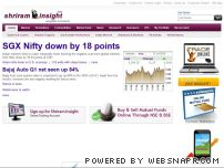 shriraminsight.com - Shriram Insight-Indian retail stock broking, online share trade, stock prices, demat, commodities, MCX , derivatives, investment advice, NSE, BSE, nifty, sensex, global market news, equity research, mutual fund, general insurance, capital gains report, technical analysis, FII activities