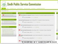 spsc.gov.pk - OFFICIAL WEBSITE OF SINDH PUBLIC SERVICE COMMISSION