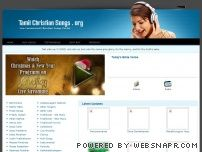 tamilchristiansongs.org - தமிழ் கிறிஸ்தவ பாடல்கள் TAMIL CHRISTIAN SONGS - No.1 Songs Portal for World Wide Tamil Christians