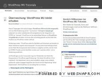 wpmu-tutorials.de - WordPress MU Tutorials - Tutorials, News, Themes und Plugins zu WordPress MU